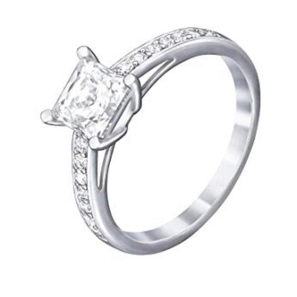 e505b81c3 Swarovski Jewelry   Crystal Attract Square Ring Size 9   Poshmark